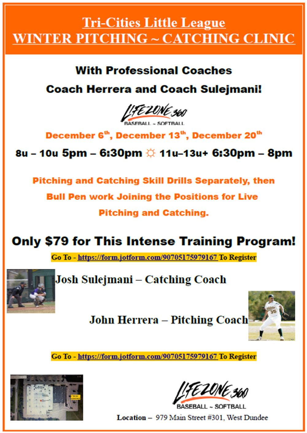 TCLL Pitching and Catching Clinic